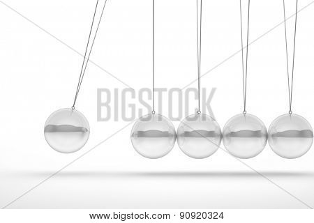 glass newton cradle 3d image