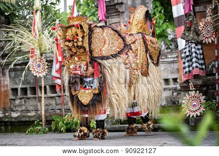 Barong Dance show, represents fight between good and evil spirit
