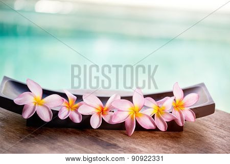 Tropical flower, spa background