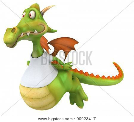 Dragon with a white tshirt