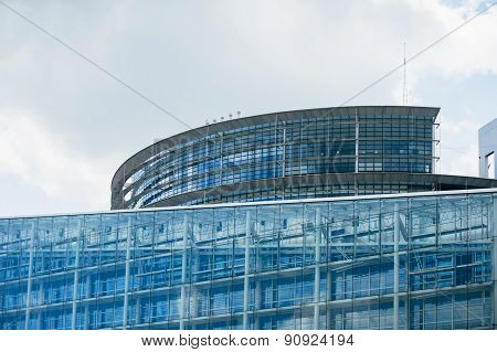 Parliament Building In Strasbourg