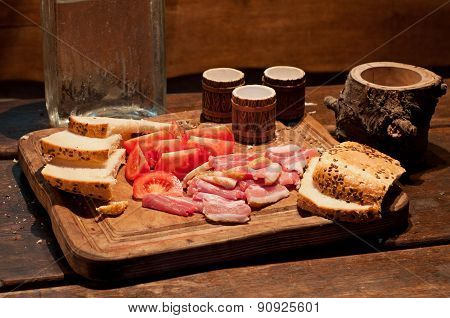 Bacon, Tomato, Bread And Vodka