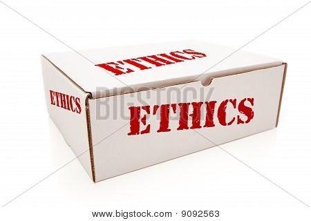 White Box With Ethics On Sides Isolated