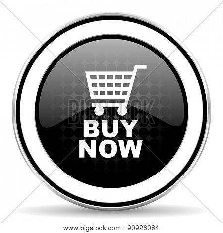 buy now icon, black chrome button