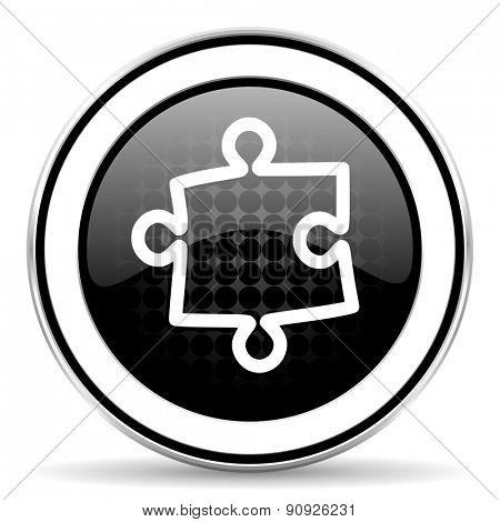 puzzle icon, black chrome button