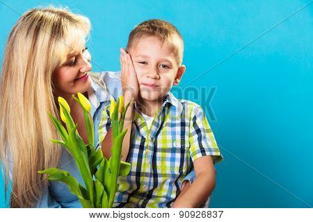 Boy Celebrating Mother's Day