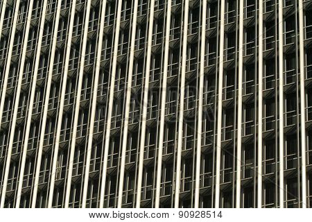 Skyscraper Office Tower Block Windows In Lines