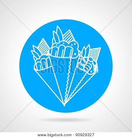 Temaki sushi blue vector icon