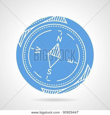 Compass blue vector icon