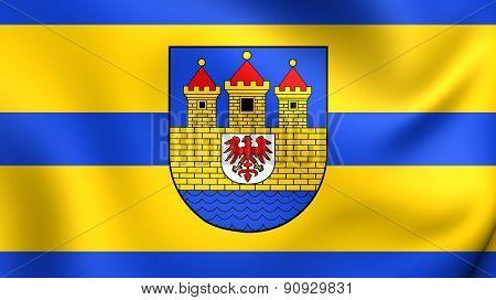 Flag Of Strasburg, Germany.