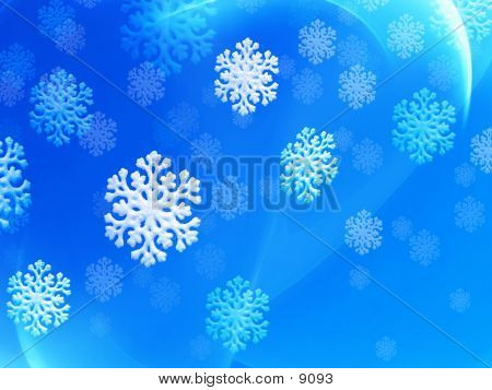 Falling Snow Flakes