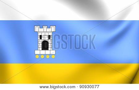 Flag Of Pleszew City, Poland.