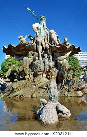 Neptune fountain in Berlin, Germany.