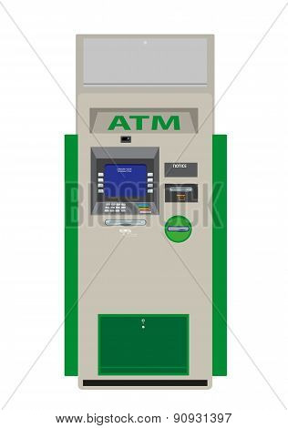 ATM Flat Design Vector Illustration