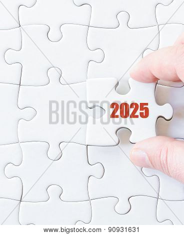 Missing Jigsaw Puzzle Piece With Year  2025