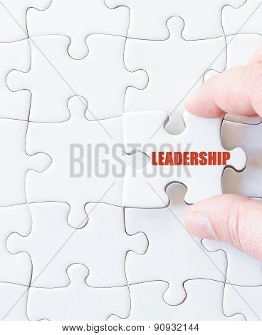 Missing Jigsaw Puzzle Piece With Word Leadership