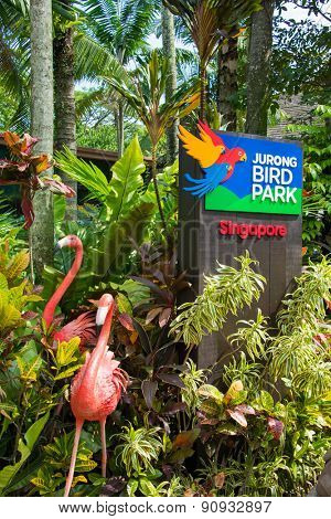 Singapore - AUGUST 3, 2014: Entrance to Jurong Bird Park on August 3 in Singapore, Singapore. Jurong Bird Park is a popular tourist attraction in Singapore