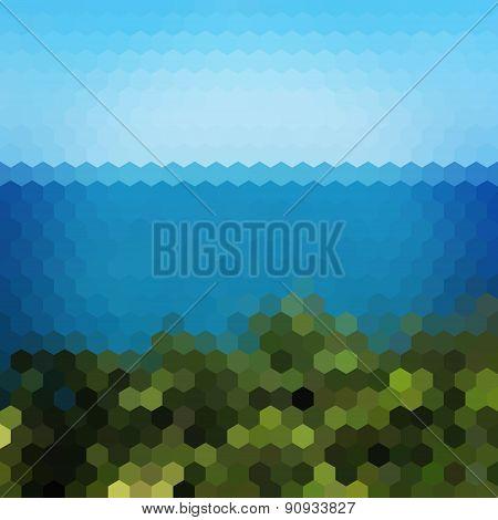 Landscape Hexagon Background