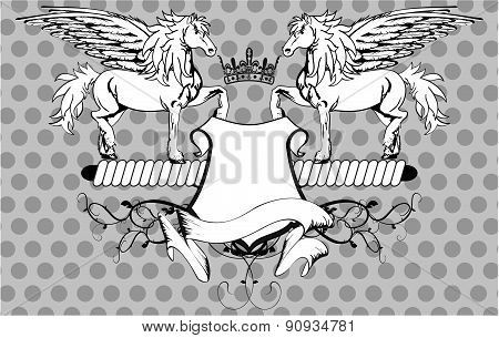 heraldic pegasus coat of arms background