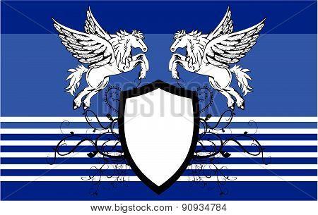 heraldic pegasus coat of arms