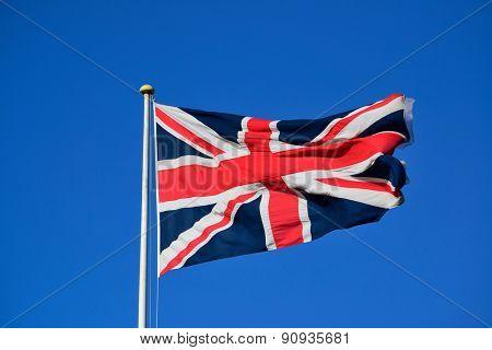 United Kingdom national flag flying in Edinburgh.