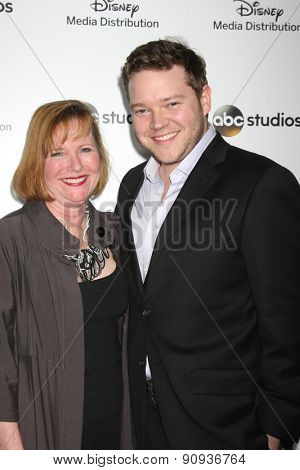 LOS ANGELES - MAY 17:  Harry Ford, with his mother at the ABC International Upfronts 2015 at the Disney Studios on May 17, 2015 in Burbank, CA