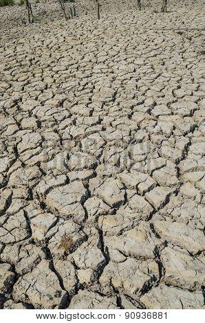 Drought parched soil