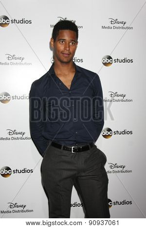 LOS ANGELES - MAY 17:  Alfred Enoch at the ABC International Upfronts 2015 at the Disney Studios on May 17, 2015 in Burbank, CA