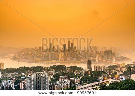 Chongqing, China cityscape.