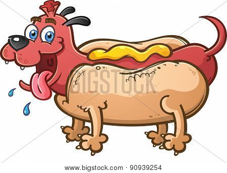 Hot Dog Mutt Cartoon Character