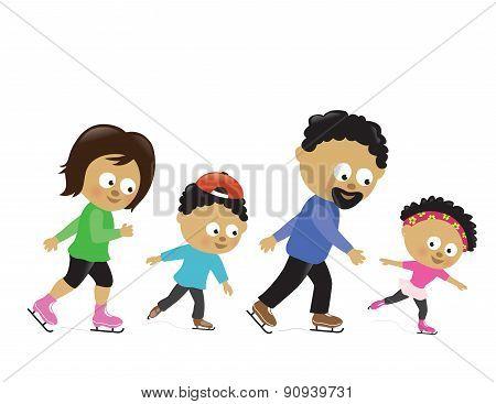 Family ice skating 2