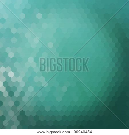 Water Hexagon Background