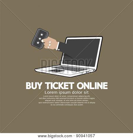 Buy Ticket Online Concept.
