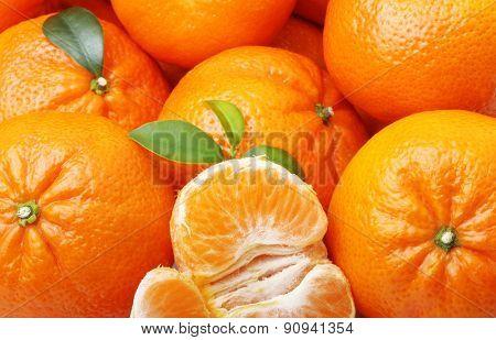 Mandarin tangerine citrus fruit background.