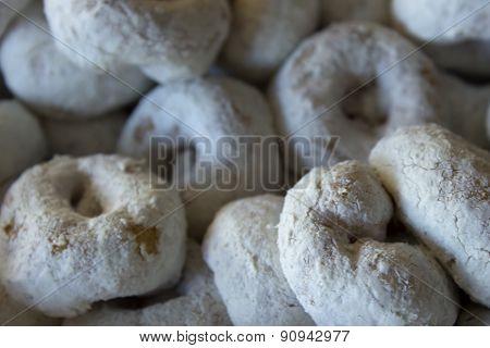 Powdered sugar donuts