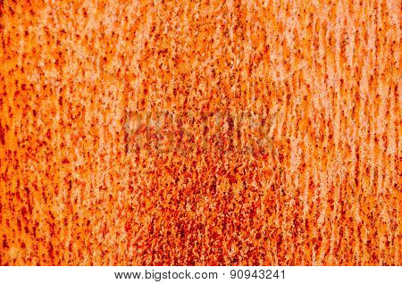 Orange Rusty Metal Texture