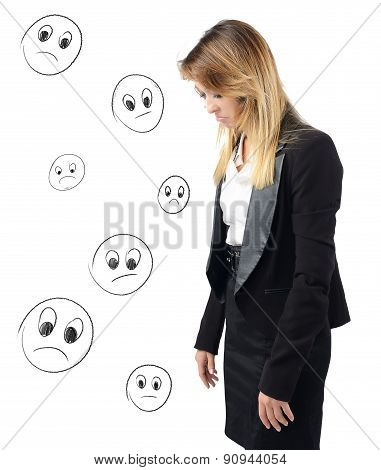 Discouraged businesswoman