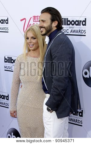LAS VEGAS - MAY 17:  Britney Spears, Charlie Ebersol at the Billboard Music Awards 2015 at the MGM Garden Arena on May 17, 2015 in Las Vegas, NV