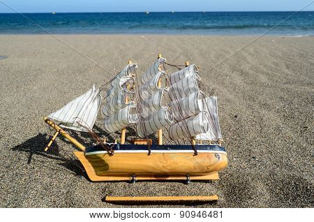 Sail Ship Toy Model