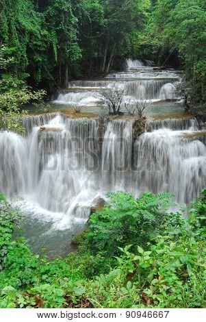 Huay Mae Kamin Waterfall in Khuean Srinagarindra National Park, Kanchanaburi province, Thailand
