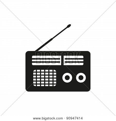 The Receiver Icon. Radio Symbol. Flat