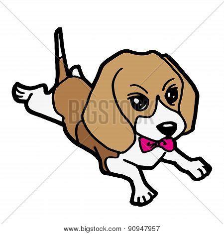 cute puppy cartoon vector