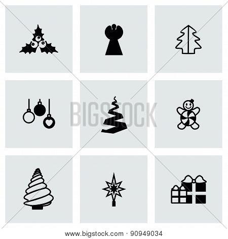 Vector Cristmas trees icon set