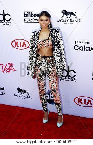 LAS VEGAS - MAY 17:  Zendaya Coleman at the Billboard Music Awards 2015 at the MGM Garden Arena on May 17, 2015 in Las Vegas, NV
