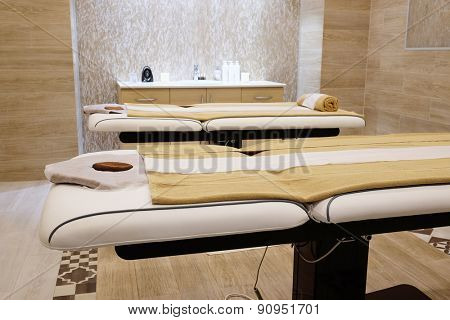 Interior of a massage room in a spa
