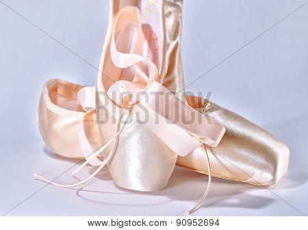 Dance Pointe Shoes Closeup