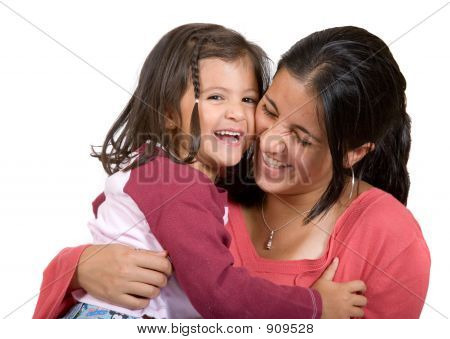 Girl With Her Mum Having A Laugh