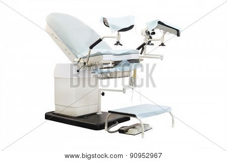 Gynecological chair. Gynecological room