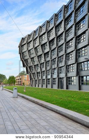 Almere, Netherlands - May 5, 2015: Apartment Building 'the Wave'