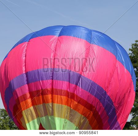 Colorful Hot Air Balloon Is Flying